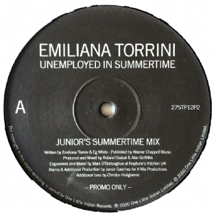 "Emiliana Torrini - Unemployed In Summertime (Junior Mixes) (12"") (Promo) (G++/NM)"